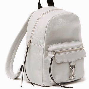 Rebecca Minkoff Leather Light Grey Mab Backpack